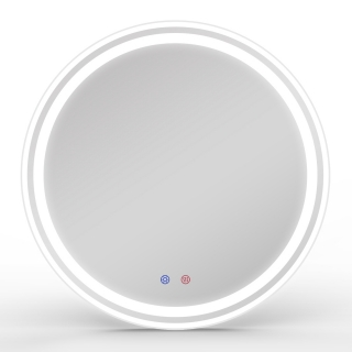 Зеркало круглое 60*60см с подсветкой, диммером, подогревом, Volle 16-21-600
