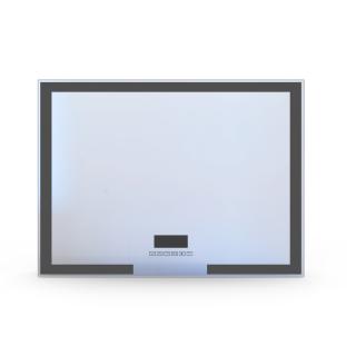 Зеркало 80*60 с подсветкой, подогревом, bluetooth, часы, Volle 16-14-800