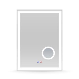 Зеркало 60*80см с подсветкой, диммером, подогревом, с линзой 5X Volle 16-13-600M