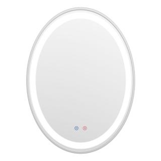 Зеркало 60*80см с подсветкой, диммером, подогревом, никель, Volle 16-40-600S